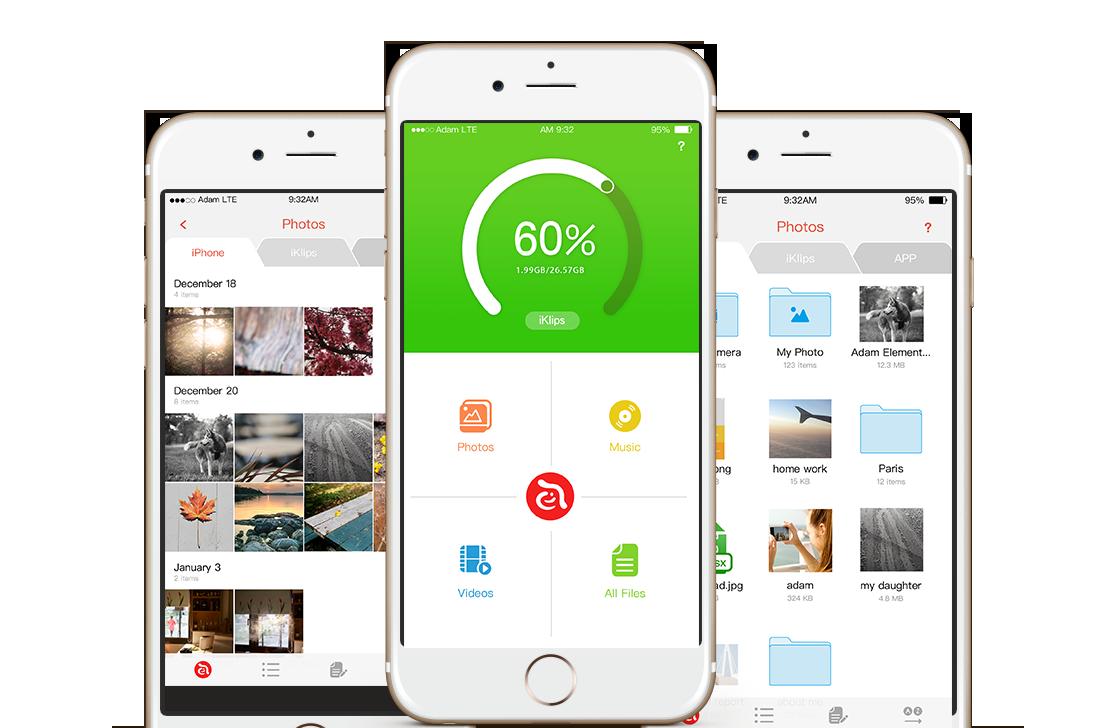 Iklips Duo Verwalte Ios Auf Deine Weise Adam Element Apple Lightning Flash Drive 64gb Red Screenshot