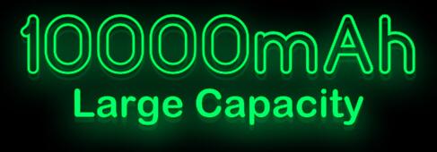 10000mAh Large Capacity